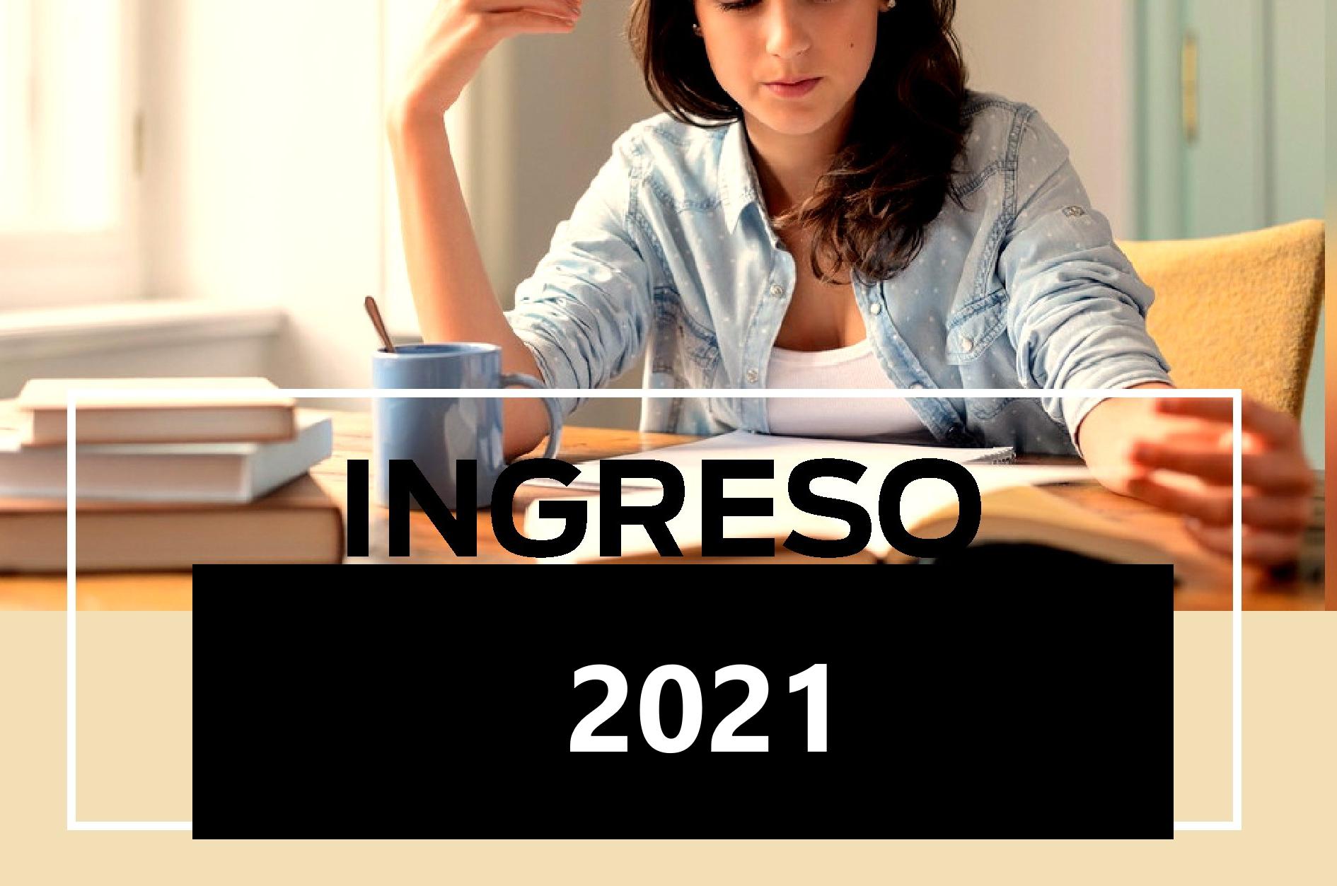 INGRESO 2021, 2° CUATRIMESTRE